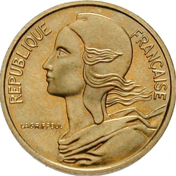 5 centime, Marianne,1966-2001, Francie